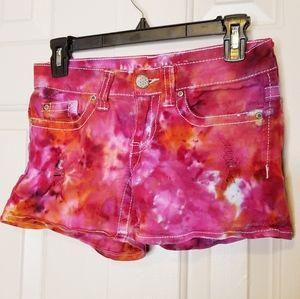 Hydraulic Shorts - HYDRAULIC JEAN TIE DYE SHORTS